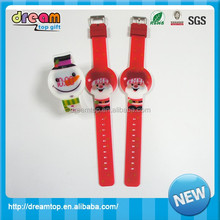 Promotional Customized Logo LED Silicone Watch colorful print kid band watch