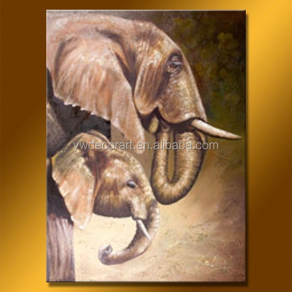 Abstract Elephant Oil Painting African animal theme Hotsale Canvas Painting