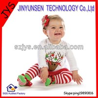 2013 fashion baby girl christmas outfit