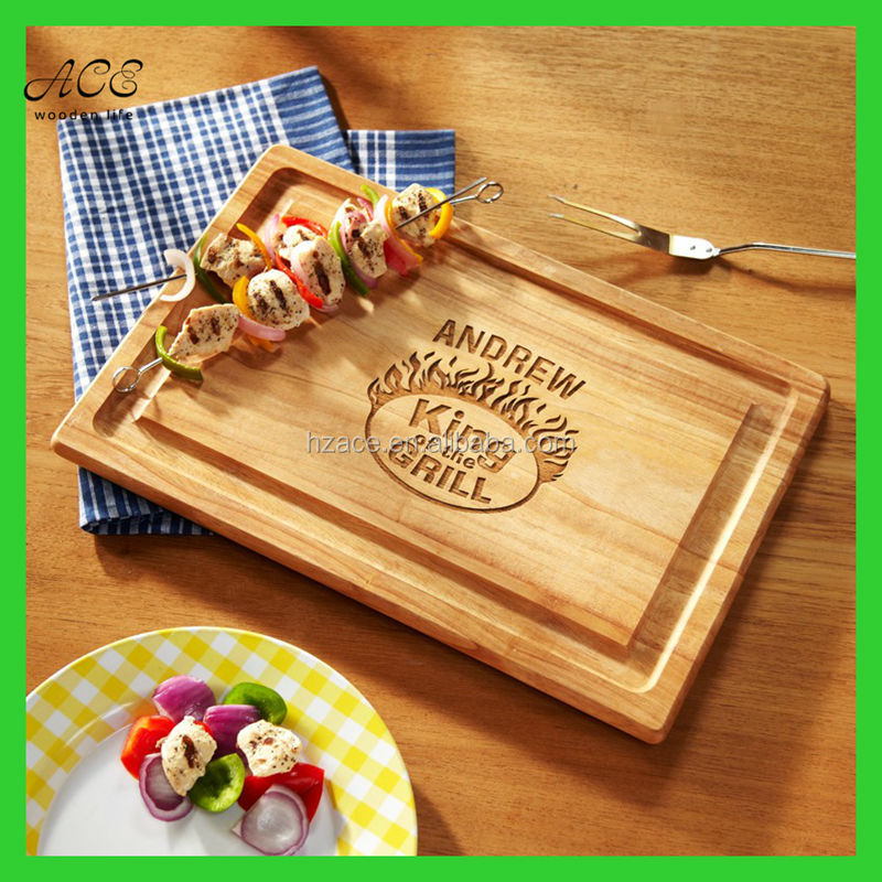 Carved wooden serving board Engraved wooden cutting board Laser engraved wooden serving board