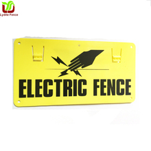 Lydite Electric Fence Warning Sign, Clip-On ,waterproof