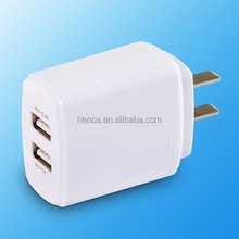 2016 Top Quality universal 5V 3.4A international usb travel electrical adapter mobile charger