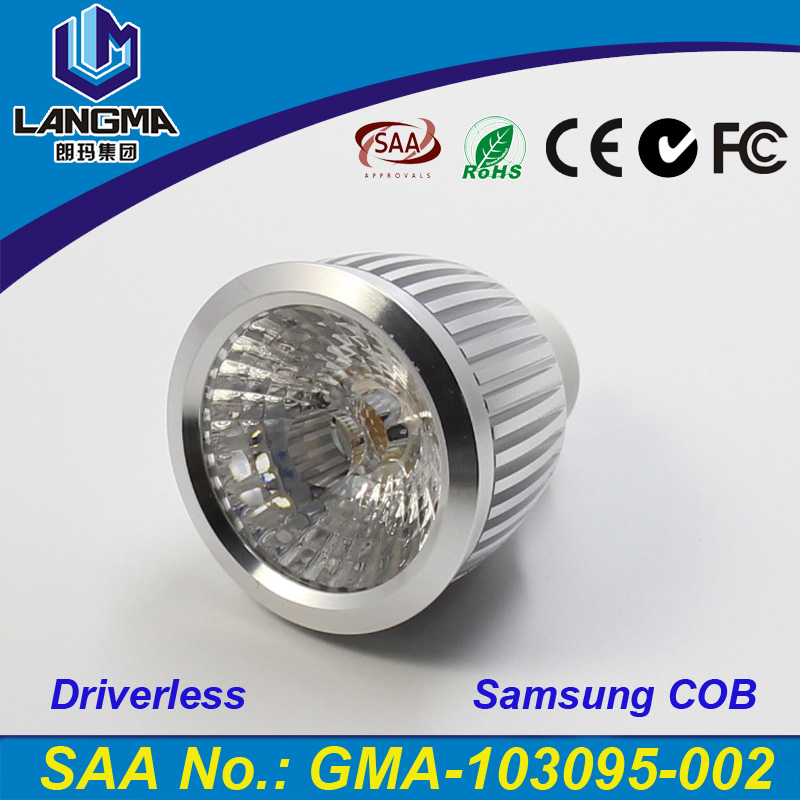 Langma High Bright Samsung AC COB gu10 led <strong>bulb</strong> Cool White/Warm White AC85-265V <strong>lamp</strong> Lighting 6w LED Bombilla