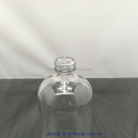 500ml Clear Boston bottle with screw phenolic cap in superior quality