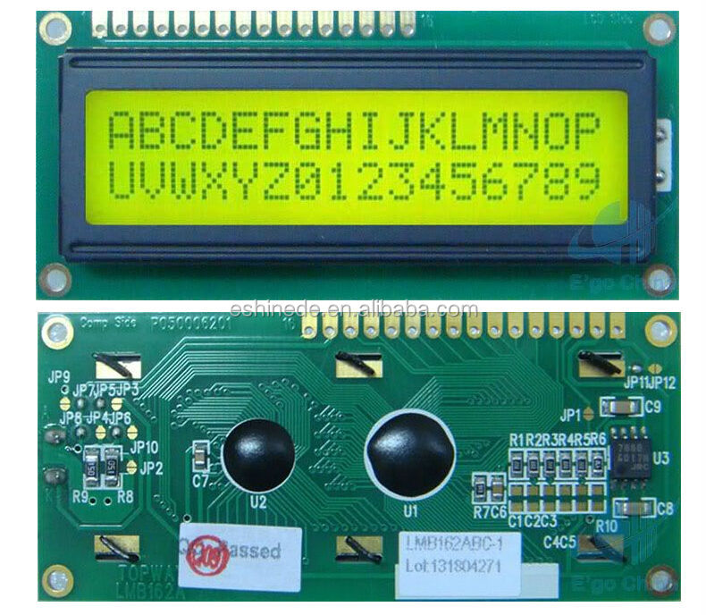 Topway 3.3V 1602 16X2 162 Character LCD Module Display Screen LCM w/ Backlight