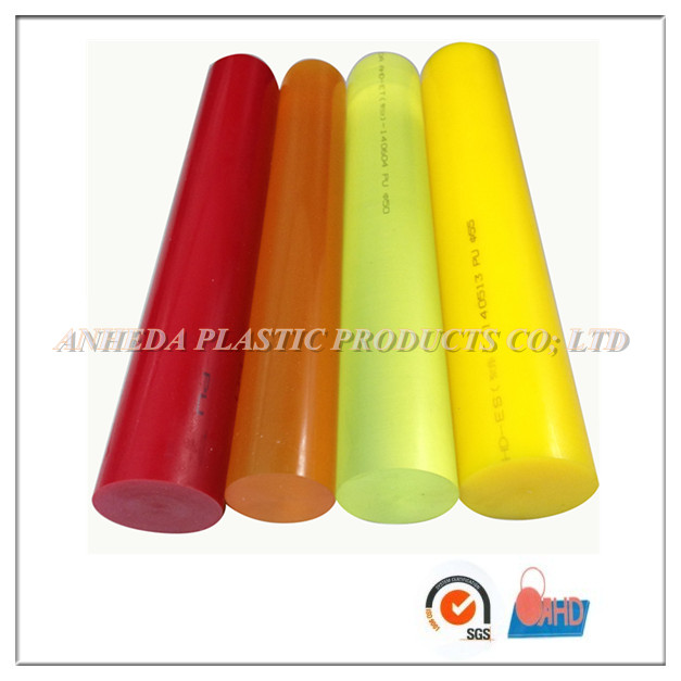 Virgin material nature/tea color/red/yellow pu polyurethane rod