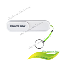 external slider cover power bank 2200mah with Key chain Slider new special power bank 2000mah for smart phone