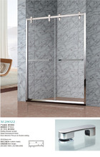 Frame double sliding shower door cubicle screen M-28022