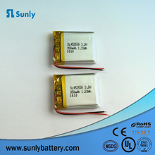 Rechargeable lipo battery 452530 350mAh 452547 3.7v 450mah li polymer battery for Massager