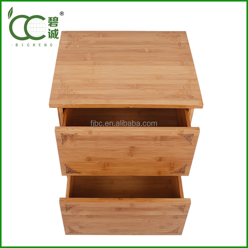Modern design Eco-Friendly Small Wooden Bedside Table With Drawers For European