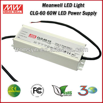 Meanwell LED Driver CLG-60-12 (60W 12V 5A) 60W Single Output Waterproof LED Power Supply And 12V LED Power Supply