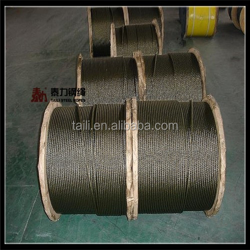 galvanized and ungalvanized steel wire rope 12mm
