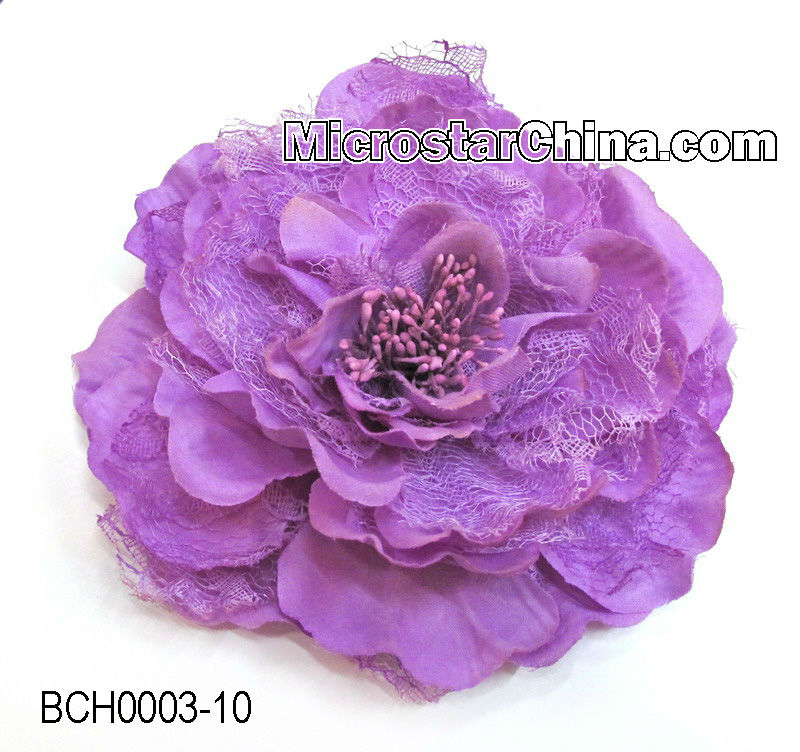 Artificial Fabric Flower Corsage Pin For Garment Accessory