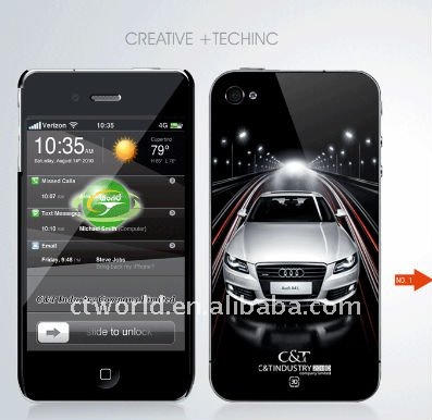 3D cover for iphone 4, cool car design for iphone case