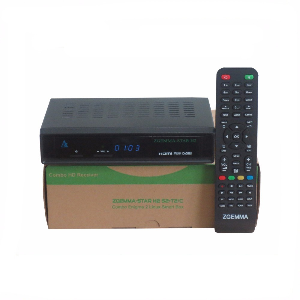 Linux tv box Zgemma Star with DVB-S2+DVB-T2 Dual Core Zgemma Star H2 full hd satellite receiver