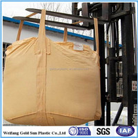 Weifang manufacture PP jumbo bag/1000kg cicular super sack/U-type big bag /PP FIBC Bag (for sand,building