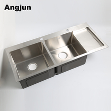 Portugal Freestanding Commercial Stainless Steel Kitchen Sink With Tray