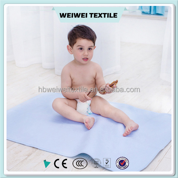 factory price Good quality Custom pigment reactive printed polyester / cotton flannel fabric for baby diaper fabric