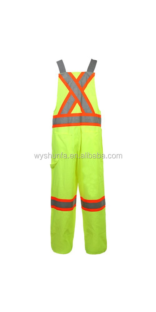 Hi-vis Reflective Men's Waterproof Work Suit Winter Use Padded Coverall