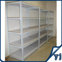 Competitive price with five layers MDF shelf warehouse slotted angle iron storage racks