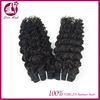 Qingdao Love hair new products 2016 natural color virgin deep wave Chinese human hair sew in weave