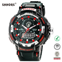 SHHORS 2016 Fashion dual time mens digital watches