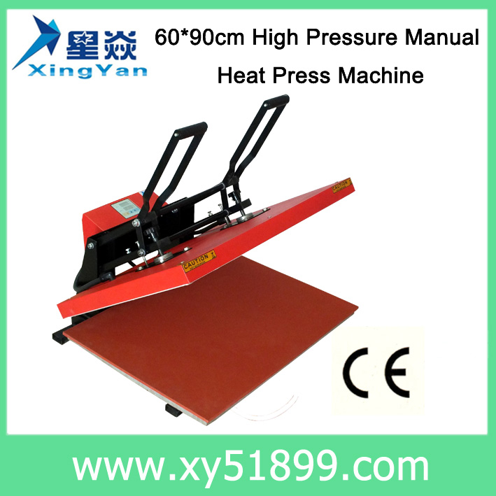 60*90CM Large manual high pressure heat press <strong>machine</strong>