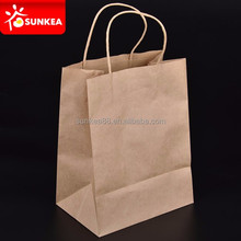 Recyclable manufacturers oil proof kraft eco medium size paper bag