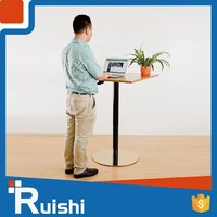 Adjustable over bed table or conference lectem podium with gas lift metal base