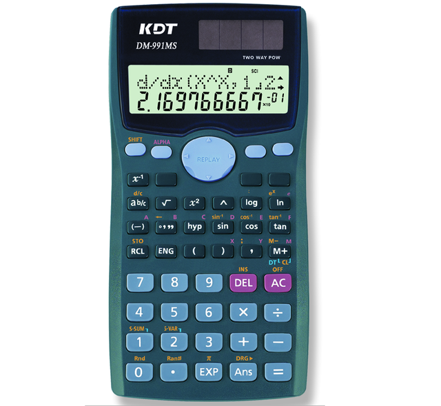 12 digits using 401kind of function scientific calculator with solar cell