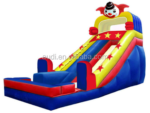 Circus Clown character inflatable slide