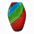 Ellipsoid shape murano glass vase