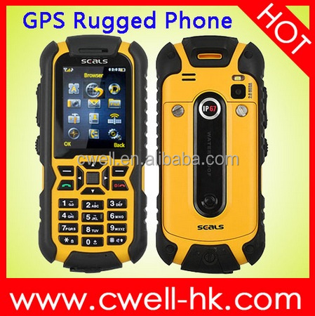 2.0 Inch Screen 2.0MP Back Camera with LED Torch GPS JAVA ip67 mobile phone waterproof shockproof ductproof cell phone SEALS VR7