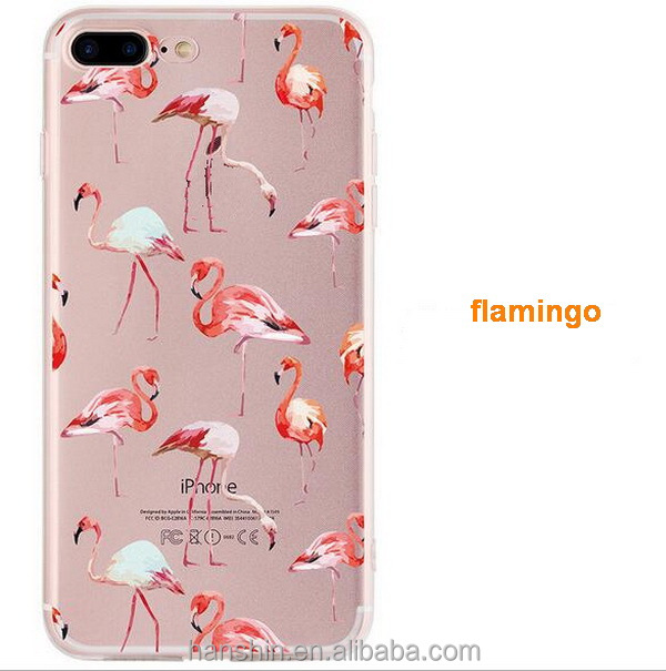 Fashion Custom Painting DIY Birds Picture Silicon Phone Cases Cover for iPhone 7 7Plus
