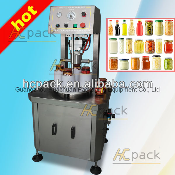 Vacuum iron cap screwing machine