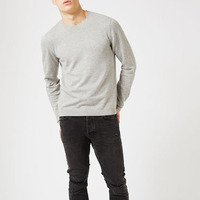 Manufature Of China 100% Knitted Gray O Neck Men Sweater