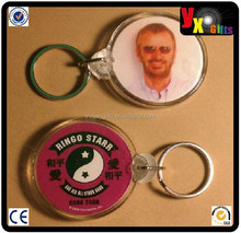 RINGO STARR YING YANG PINK ROUND PHOTO DouBLe SIDED ZIPPER PULL Acrylic KEYCHAIN/jordan shoes