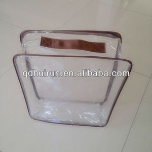 with zipper and handle steel wire pvc plastic bags