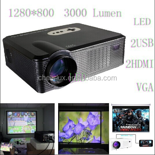 With hdmi usb vga tv Media Tuner Pico Video Projector For Home Theater School Office