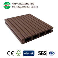 Eco-friendly Pretty High Density Outdoor WPC Flooring Wood Plastic Composite Decking for Balcony Garden
