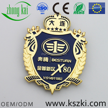 Hot selling our design metal car badge for gifts