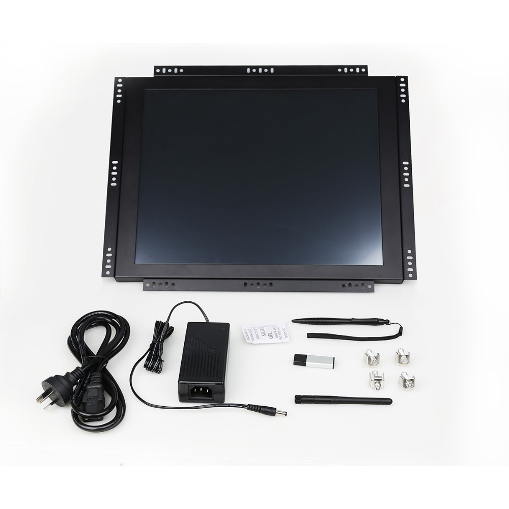 17inch rackmount open frame industrial touch screen Panel fanless PC