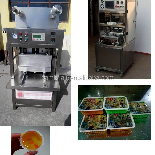 Stainless steel vacuum cup sealer high speed and can custom tray size