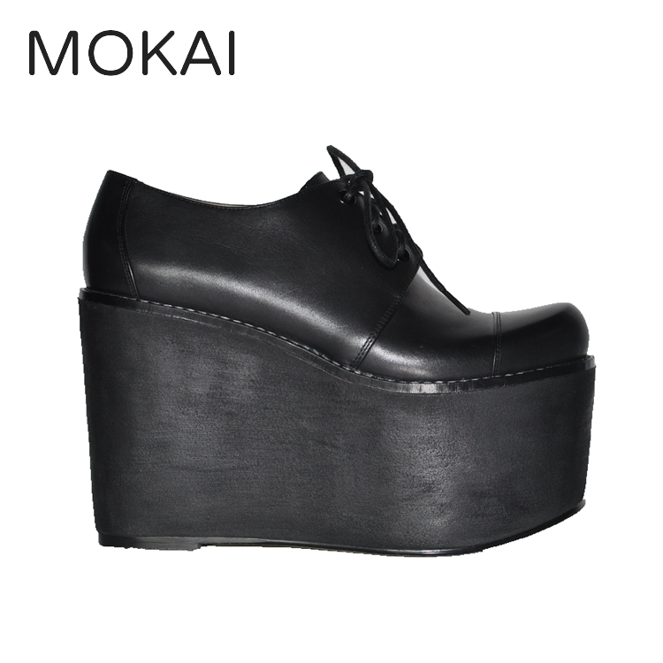 MK197-1A BLACK ladies leather boots platform women high heel shoes
