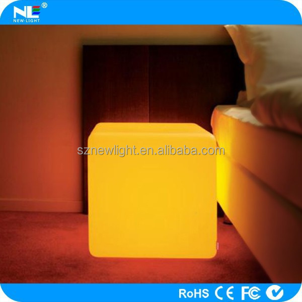 Alibaba wholesale rechargeable waterproof 3d led cube lighting seat.