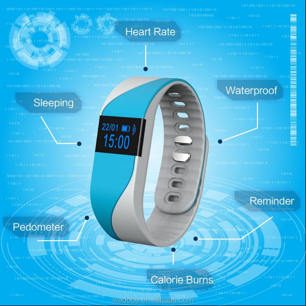 fitness tracker smart band ,heart rate , SMS/ Call Notify Smart Wrist watch