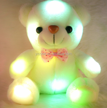 free sample Colorful Glowing Soft Stuffed Plush teddy bear toys 50cm Creative Light Up LED Teddy Bear Led lighting colorful ted