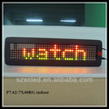 P7.62-7x40RG colors indoor programed advertising led display screen