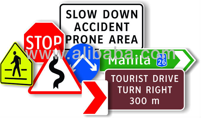DPWH Philippine Standard Road Sign & Traffic Products & Materials