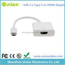 New USB 3.1 Type C to HDMI Adapter Cable the new Macbook to HDMI monitor silver
